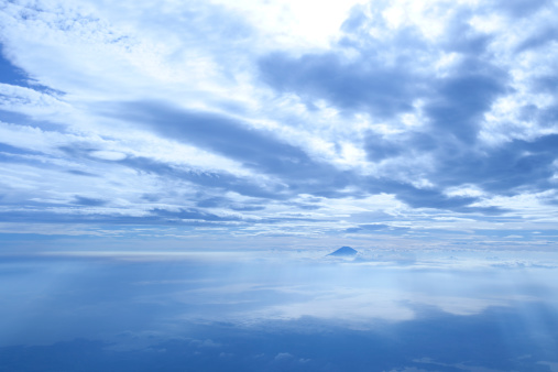 Mt Fuji「View of Mt.Fuji from the sky. 」:スマホ壁紙(15)