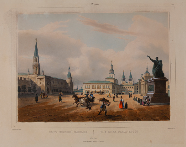 Chromolithograph「The Red Square In Moscow 1840s」:写真・画像(6)[壁紙.com]