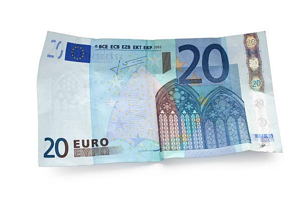 twenty euro note isolated on white:スマホ壁紙(壁紙.com)