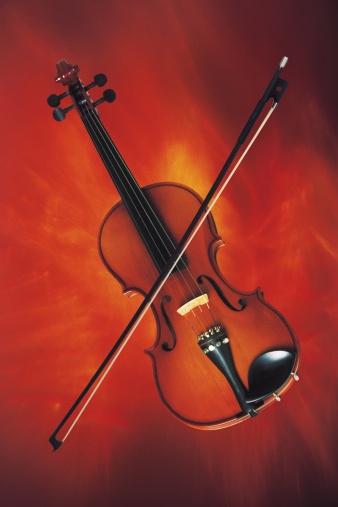 Viola - Musical Instrument「Violin with bow」:スマホ壁紙(8)