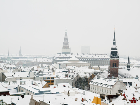 Denmark「Looking over the snow covered roofs of Copenhagen」:スマホ壁紙(3)