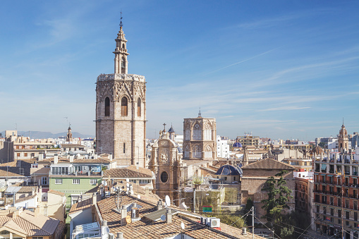 Cathedral「Looking over the rooftops of the historic centre of Valencia.」:スマホ壁紙(5)