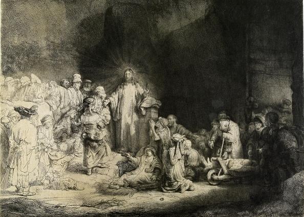 平穏「Christ Healing The Sick: The Hundred Guilder Print,」:写真・画像(18)[壁紙.com]