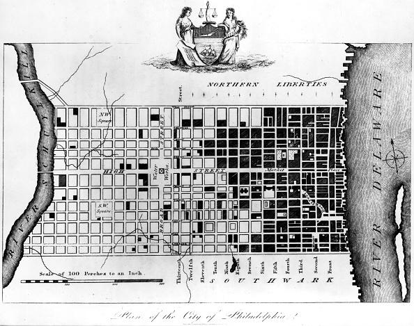 Philadelphia - Pennsylvania「Map Of Colonial Philadelphia」:写真・画像(9)[壁紙.com]