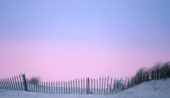 New Jersey「Dune Fence on the Beach with Sunset Sky」:スマホ壁紙(4)