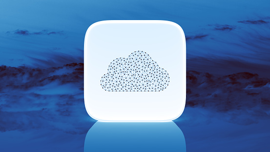 Cloud Computing「Abstract cloud computing technology concept」:スマホ壁紙(11)