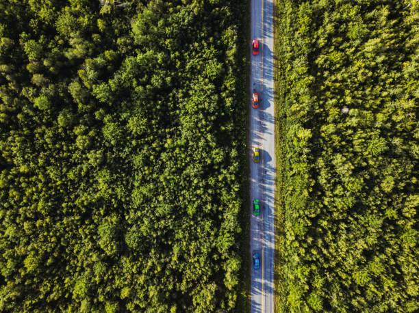 Colourful Cars on Country Road:スマホ壁紙(壁紙.com)