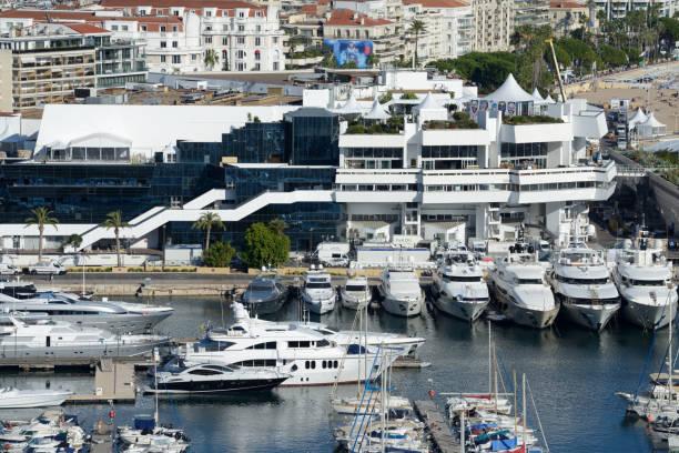 Palais des Festivals et des Congrès & Luxury Yachts Cannes:スマホ壁紙(壁紙.com)