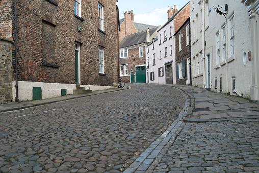 Brick Wall「An old cobblestone street in Durham, in northeast England.」:スマホ壁紙(8)