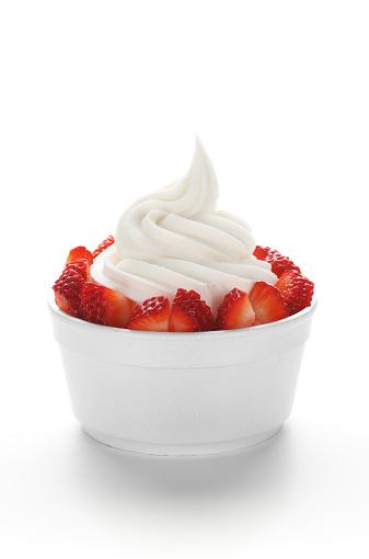 Dessert Topping「Frozen Yogurt with Strawberries」:スマホ壁紙(5)