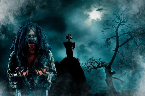zombie「Zombie in Old Cemetery」:スマホ壁紙(18)