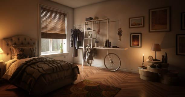 Cozy Single Bedroom:スマホ壁紙(壁紙.com)