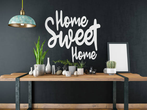 Home Sweet Home Sign with Table and Decors:スマホ壁紙(壁紙.com)