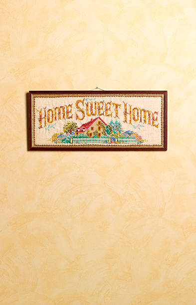 Home sweet home sampler with copy space:スマホ壁紙(壁紙.com)