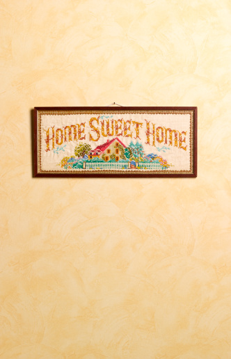 Embroidery「Home sweet home sampler with copy space」:スマホ壁紙(16)
