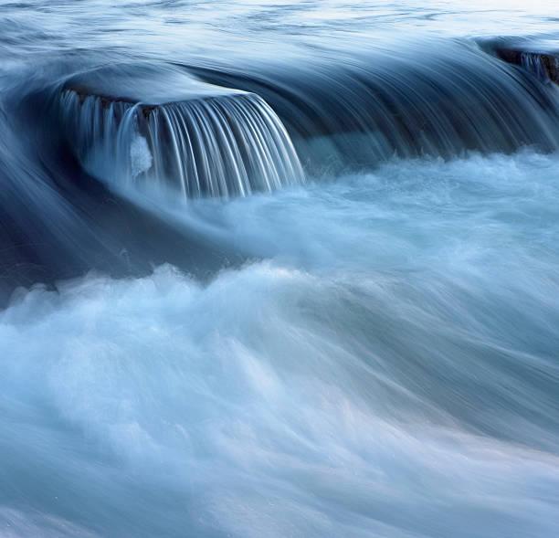 Flowing river (blurred motion):スマホ壁紙(壁紙.com)
