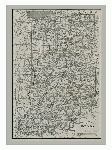 Great Lakes「Map Of Indiana」:写真・画像(12)[壁紙.com]