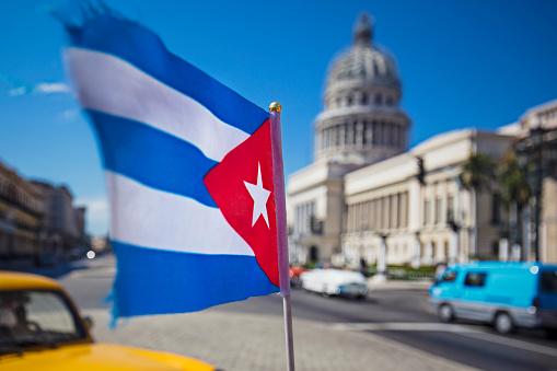 star sky「カピトリオに対するキューバの国旗のぼやけ動き」:スマホ壁紙(15)