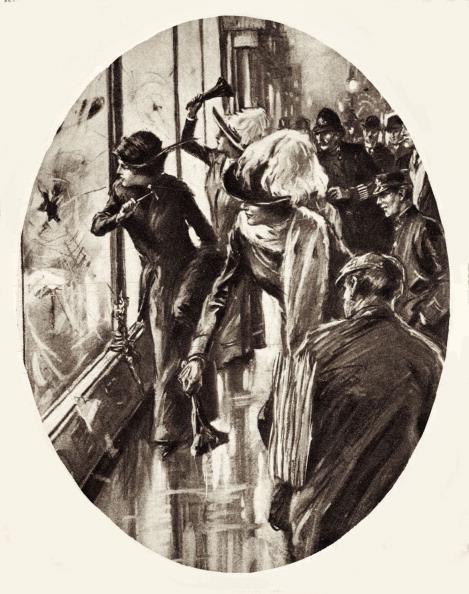 Window「Suffragettes - drawing of women smashing shop windows in London, March 1912.」:写真・画像(18)[壁紙.com]