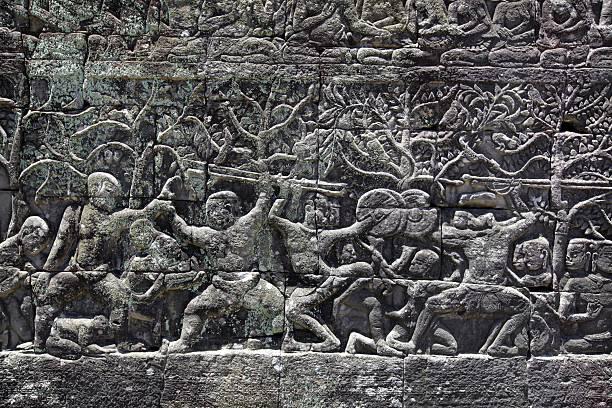 Temple ruins at Angkor Wat:スマホ壁紙(壁紙.com)