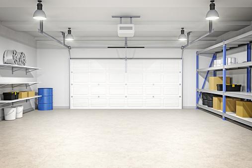 Clean「Modern Garage Interior」:スマホ壁紙(7)