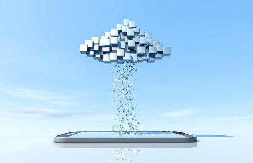 Accessibility「Data cloud with smartphone」:スマホ壁紙(1)