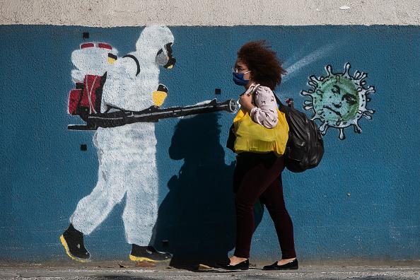 Brazil「Graffiti Art Around the City of Rio de Janeiro Amidst the Coronavirus (COVID - 19) Pandemic」:写真・画像(15)[壁紙.com]