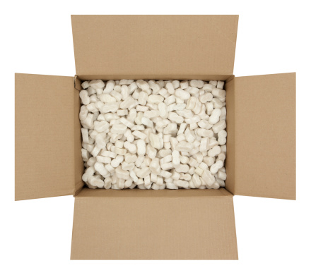 Storage Compartment「Cardboard Box with Shipping Peanuts」:スマホ壁紙(4)