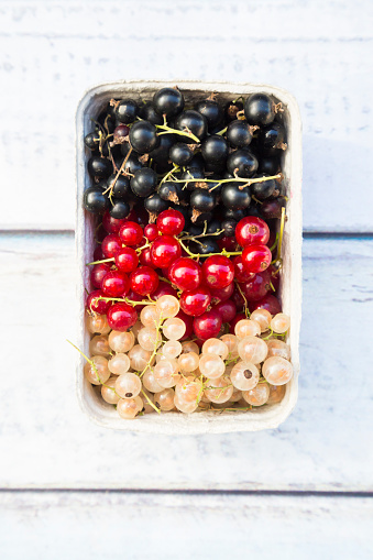 Black currant「Cardboard box of black, red and white currants」:スマホ壁紙(9)
