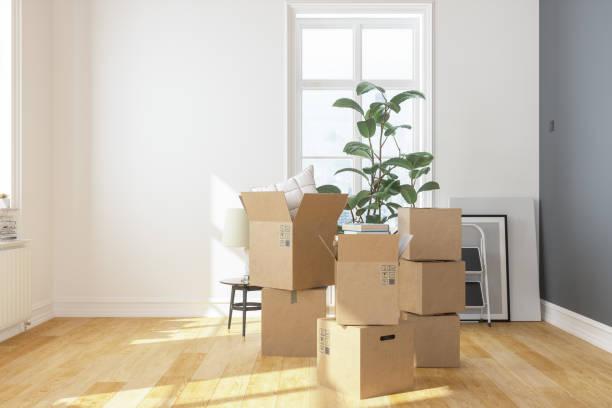 Cardboard Boxes  at new apartment:スマホ壁紙(壁紙.com)