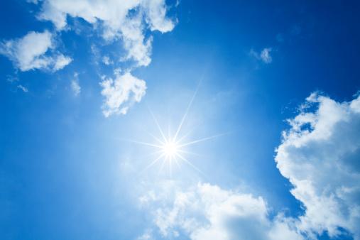 太陽の光「日光&雲」:スマホ壁紙(19)