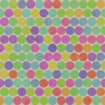 虹「紙、シームレスなカラーの水玉模様」:スマホ壁紙(1)