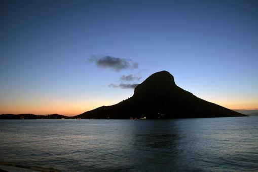 Aegean Sea「Greece, Kalymnos, rock in Massouri at twilight」:スマホ壁紙(3)