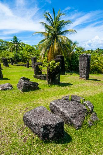 Basalt「Badrulchau basalt stones, Babeldaob, Palau, Micronesia」:スマホ壁紙(13)