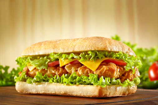 Breaded Chicken「Sandwich with chicken strips」:スマホ壁紙(10)