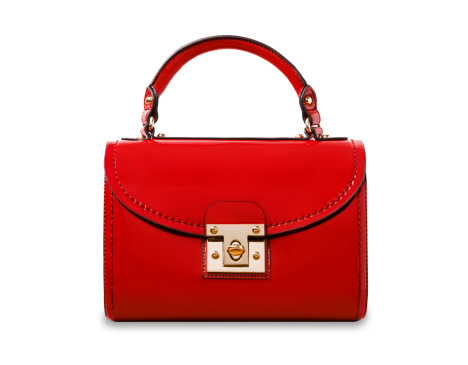 Purse「A red handbag on a white background.」:スマホ壁紙(5)