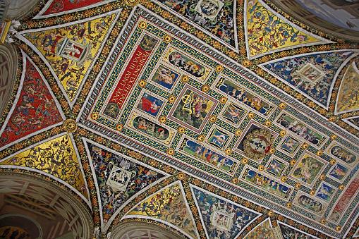 Duomo Di Siena「Piccolomini library ceiling, Siena Cathedral.」:スマホ壁紙(8)