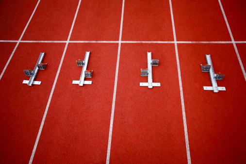 Effort「Starting block on running track」:スマホ壁紙(9)