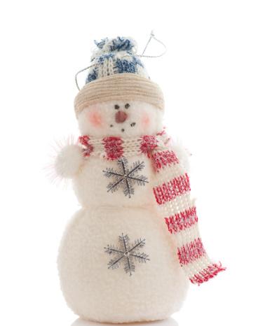 雪だるま「かわいいのスノーマンオーナメントに、白背景」:スマホ壁紙(9)
