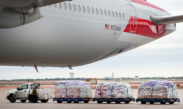 Equipment「American Airlines Converts Passenger Jets To Cargo To Ferry Supplies To Europe」:写真・画像(5)[壁紙.com]