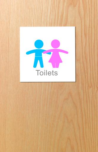 Gender Symbol「Sign on children's toilet door」:スマホ壁紙(10)