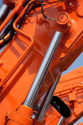 Hydraulic Platform「Closeup view of an orange hydraulic system」:スマホ壁紙(12)
