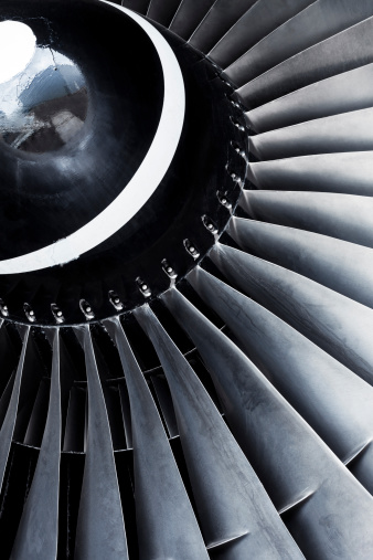 Wind「A close-up view of an aircraft jet engine turbine」:スマホ壁紙(1)