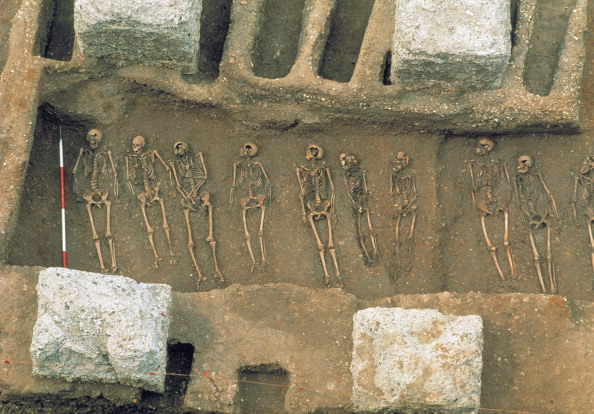 Circa 14th Century「The Excavation Of The Black Death Cemetery At The Royal Mint Site」:写真・画像(1)[壁紙.com]
