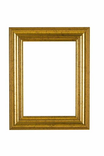 Intricacy「Gold Picture Frame with Flecked Finish, White Isolated」:スマホ壁紙(11)
