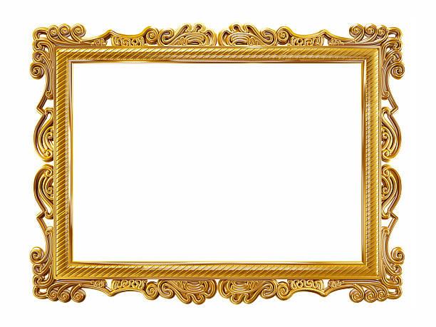 Gold picture frame:スマホ壁紙(壁紙.com)