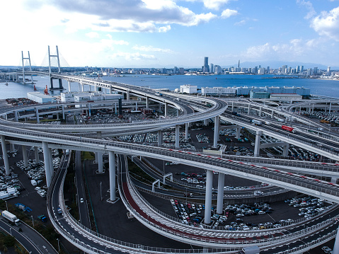 Drone Point of View「Highway and wide sky and sea.」:スマホ壁紙(9)