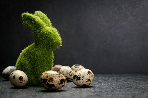 Rabbit「Easter bunny with easter eggs on white background」:スマホ壁紙(9)