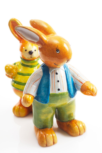 Easter Bunny「Easter bunny figurines」:スマホ壁紙(14)