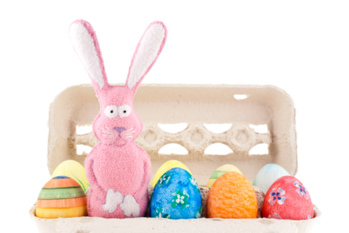 Easter Bunny「Easter bunny and eggs in a box」:スマホ壁紙(13)